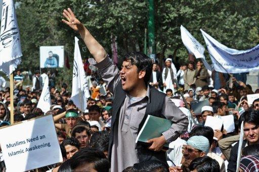 تظاهرة عنيفة في كابول احتجاجا على الفيلم المسيء للاسلام