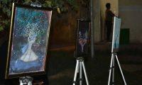 بالصور:المعرض الفني لفنانة من ذي قار لتجسيد الامل في العتمة السوداء