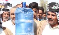 بالفديو ابناء ناحية ال بدير في الديوانية يتظاهرون بسبب شحة المياه