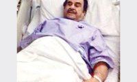 عبد الحسين عبد الرضا تحت الأجهزة إثر تعرضة لغيبوبة