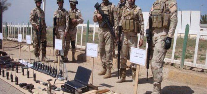 العثور على مواد متفجرة واسلحة لداعش جنوب بغداد