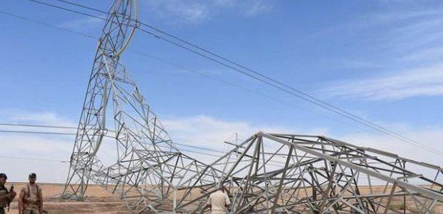 تفجير ابراج الكهرباء الرئيسية في ديالى