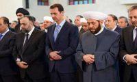 الأسد يؤدي صلاة العيد قرب جيب سابق لداعش