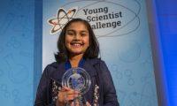جاتيا نجالي أصغر تلميذة تحصل على جائزة الأولى في مسابقة أمريكية للعلماء الصغار