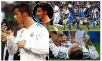 ريال مدريد يستكمل مبارته بعد أصابة رونالدو في وجهه